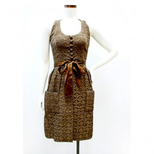 1960sModBrownQuilted_Dress_1