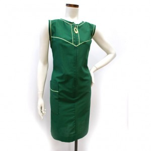 1960s_GreenCottonShiftDress_1