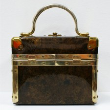 BrownBronze_VinylBoxHandbag_1