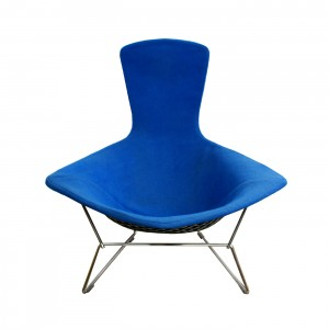 blue bird chair front