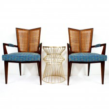 danish angle cain chairs