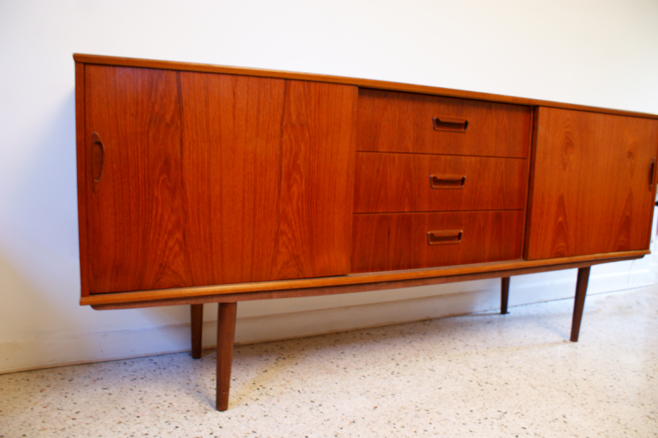 Danish Buffet Credenza : Danish modern sideboard credenza the historic